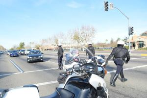 Fresno Police Department Blocking Traffic for March