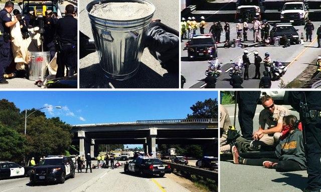 Santa Cruz Protesters Block Hwy 1